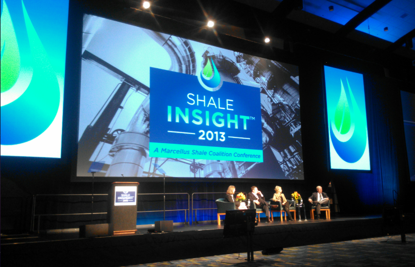 A panel discussion at the Marcellus Shale Coalition's annual industry conference in Philadelphia. (KATIE COLANERI/STATEIMPACT PENNSYLVANIA)