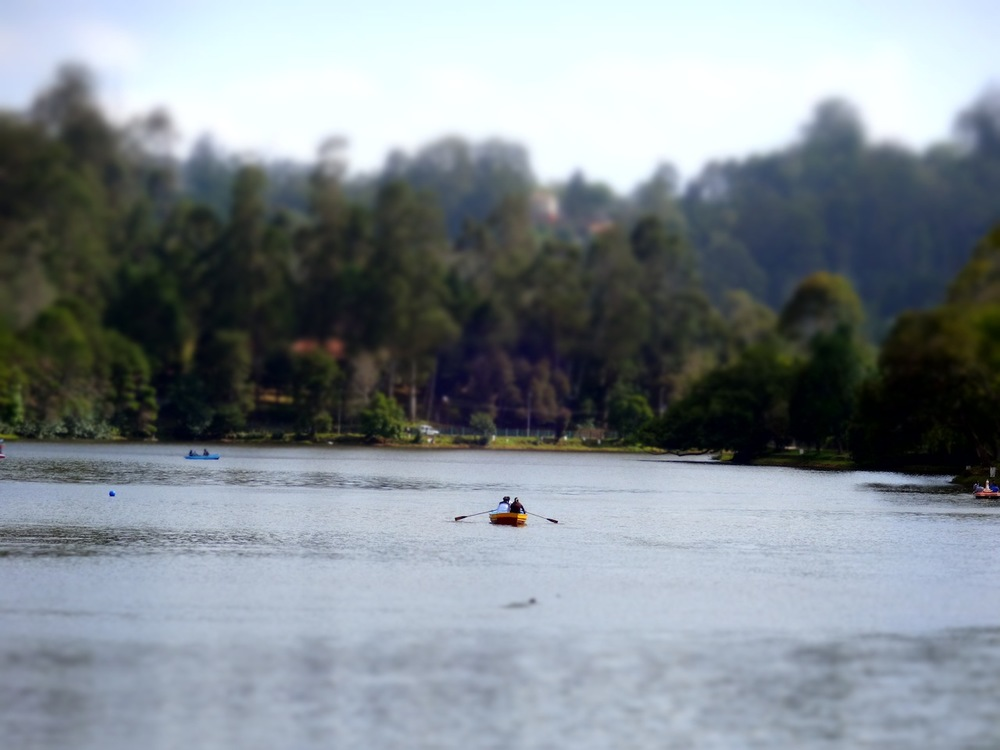 Happy rowers on Kodaikanal Lake