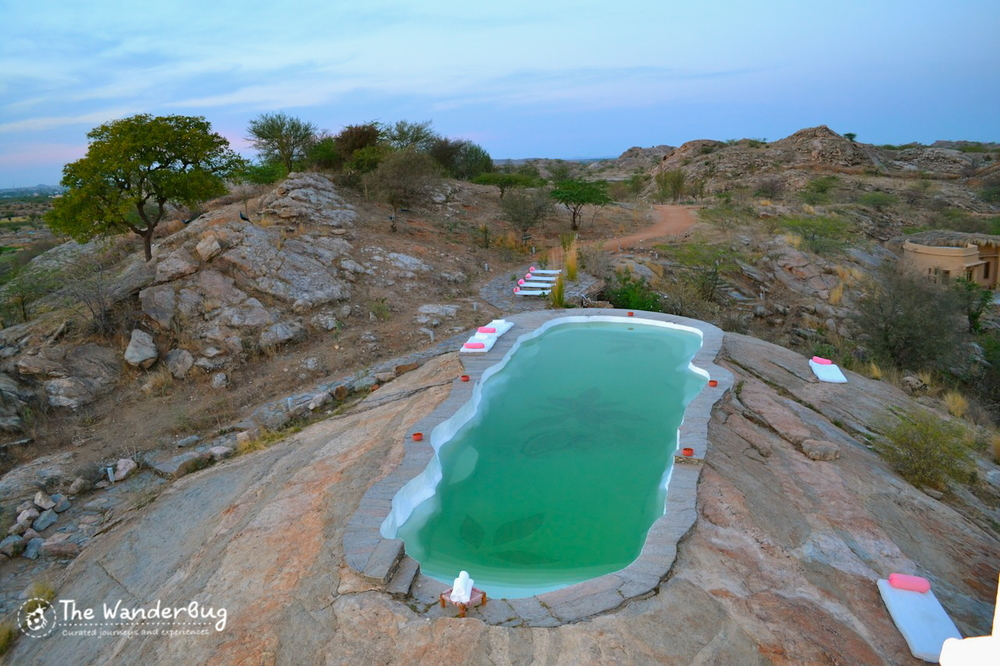 Take a dip in the gorgeous rock cut pool