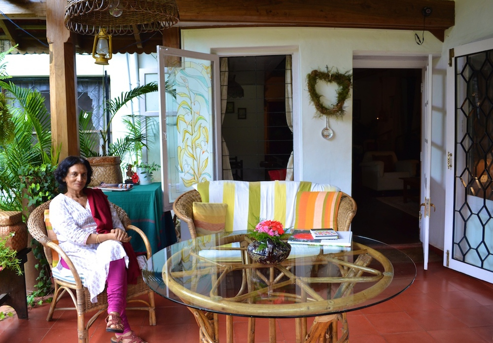 Rani, happiest amidst the peace and serenity of her home.