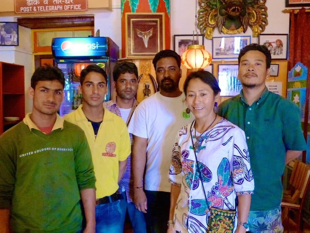 staff at tibetan guest house landour