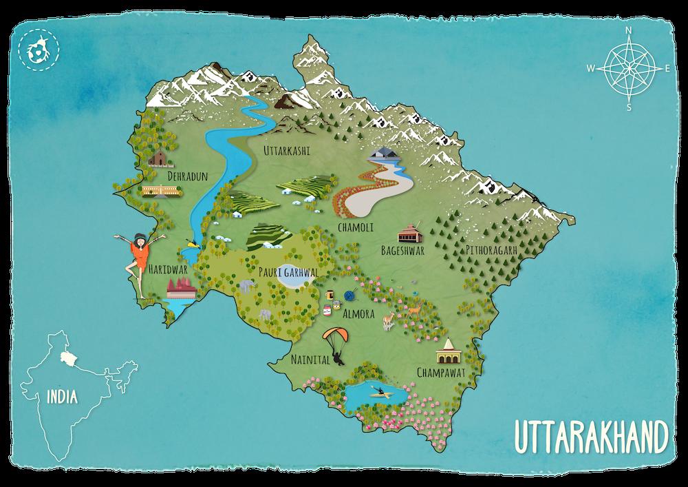 uttarakhand map wanderbug