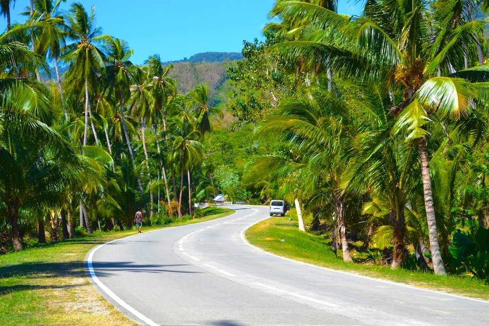The beautiful roads of Palawan