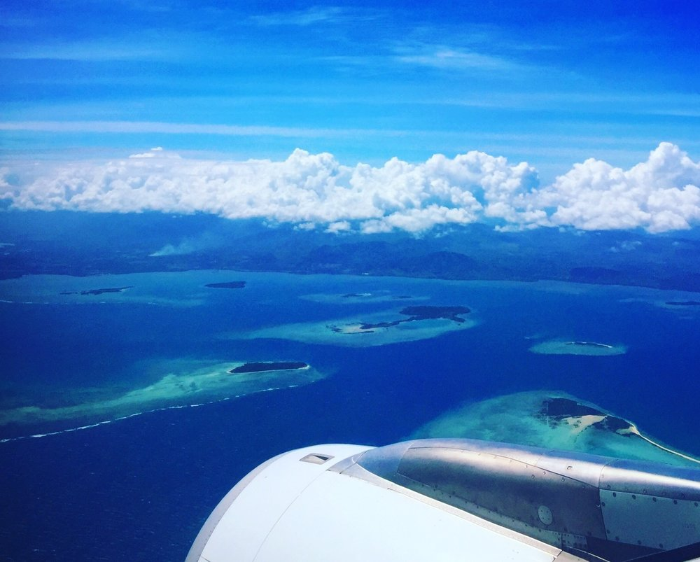 Flying over Palawan