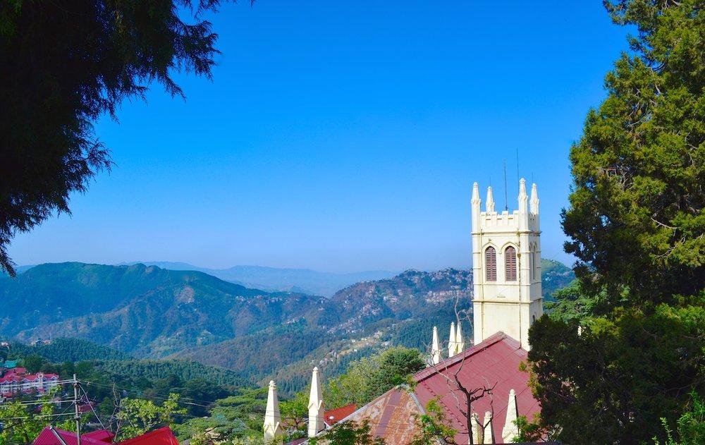 Shimla on a bright, sunny day.