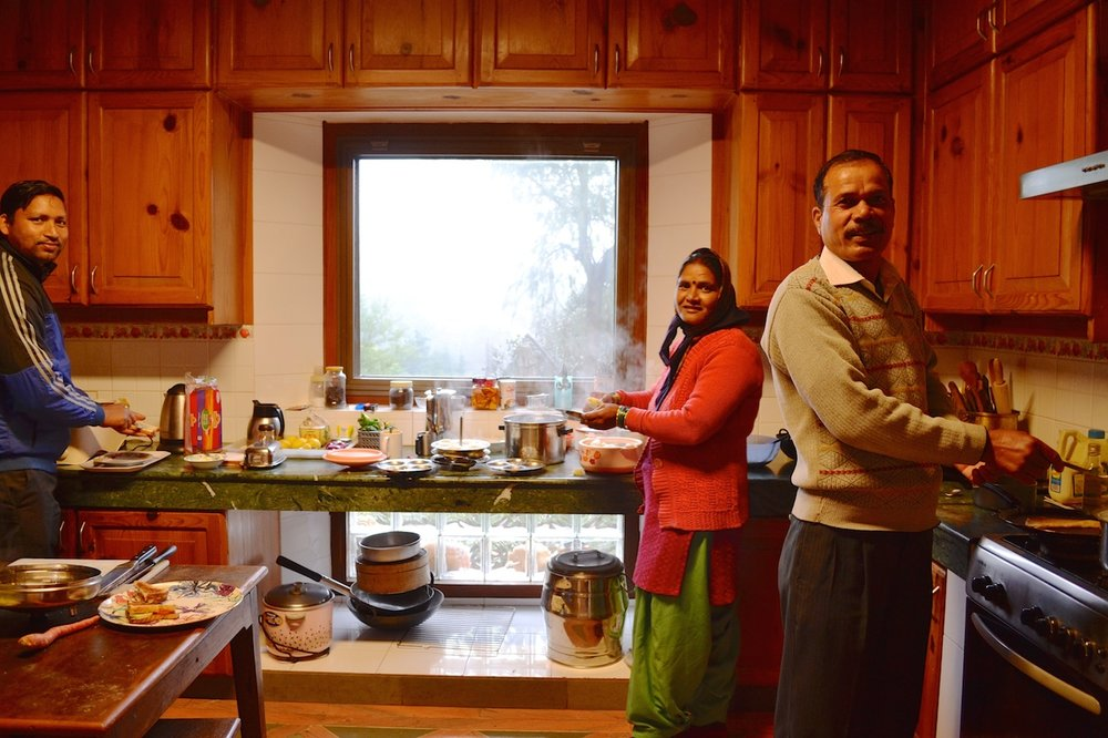 From left to right: Prakash, Madhavi and Basant