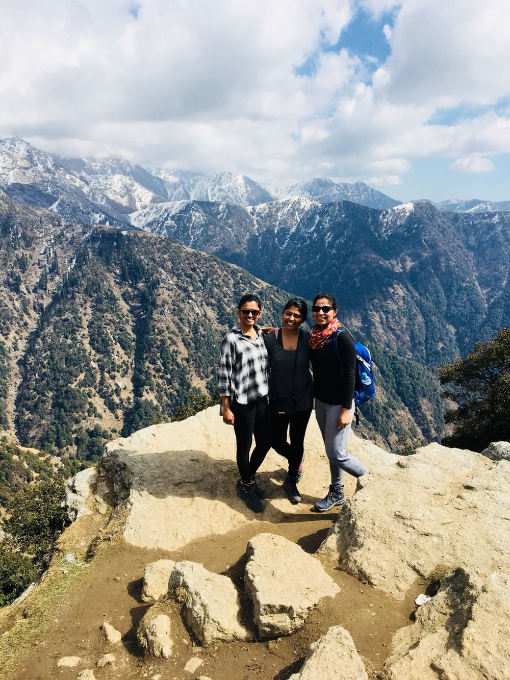 Jean, Agah and Febah loving the mountains of India!