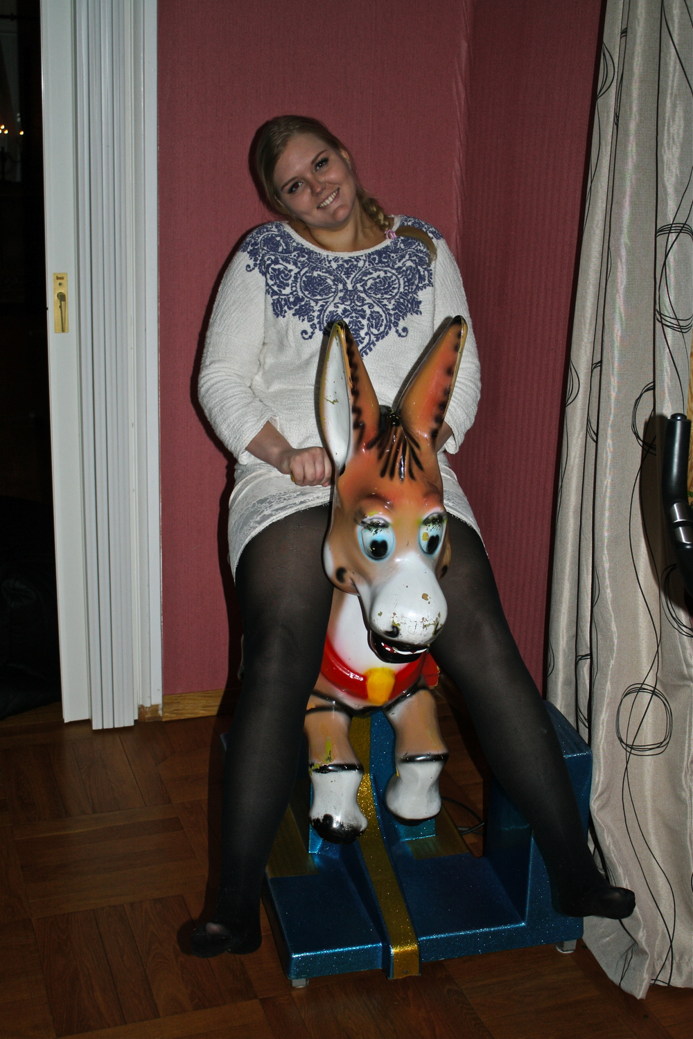 Later on I had to ride another horse, haha!