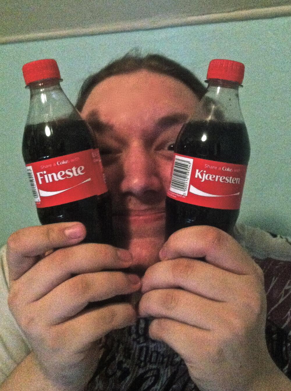 Coke bottles saying Finest Boyfriend