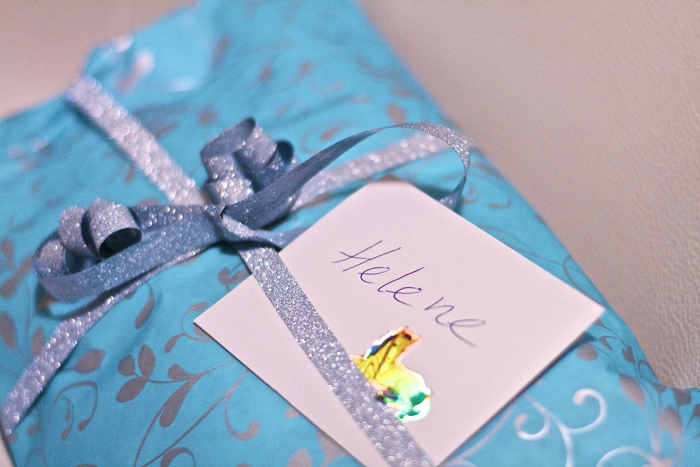 My wrapped gift to Helene