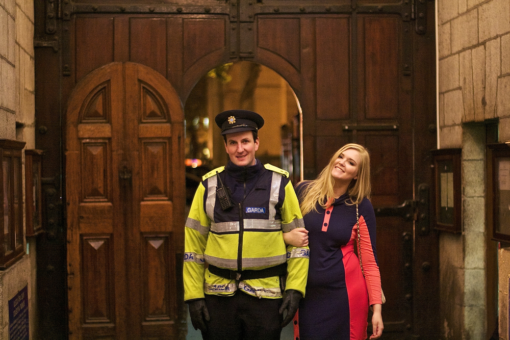 I tried to arrest this officer, haha!