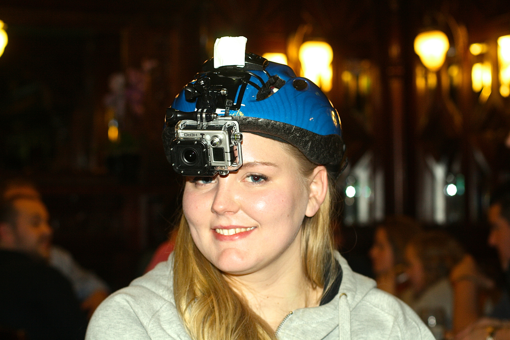 Me with the camera helmet, haha! Good thing I had the helmet, it was getting wild!