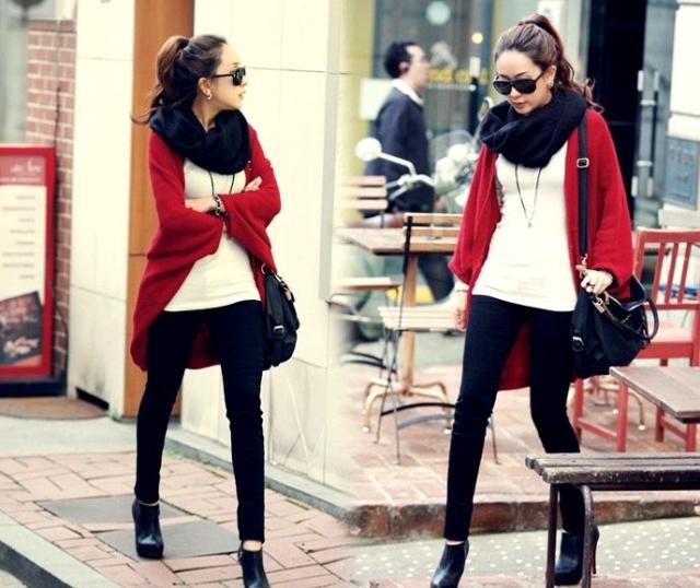 1. Knit coat