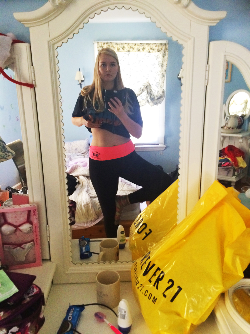 Loving my new yoga pants from VS