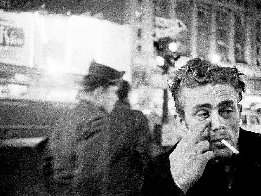 James Dean, New York City, 1955. photo by: Dennis Stock