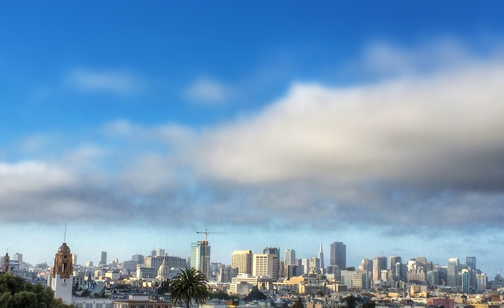 Cityscape of San Francisco..