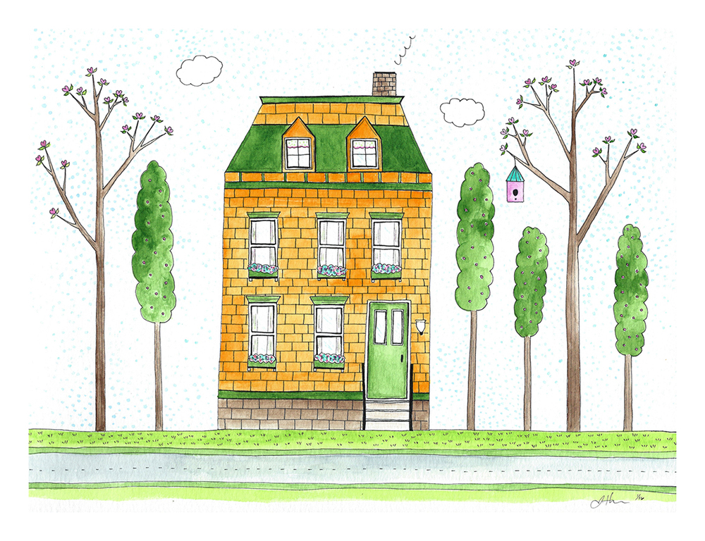Spring Townhouse, based on the top right house in the Spring Village illustration