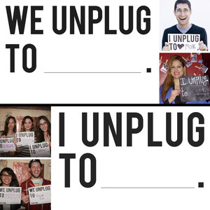 "A fantastic party or event prop. These ""Unplug To"" posters help engage people around the bigger idea and spark lively conversations. Great for photo booths, icebreakers and displaying on site."