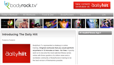 Image 1. Bodyrock.tv website