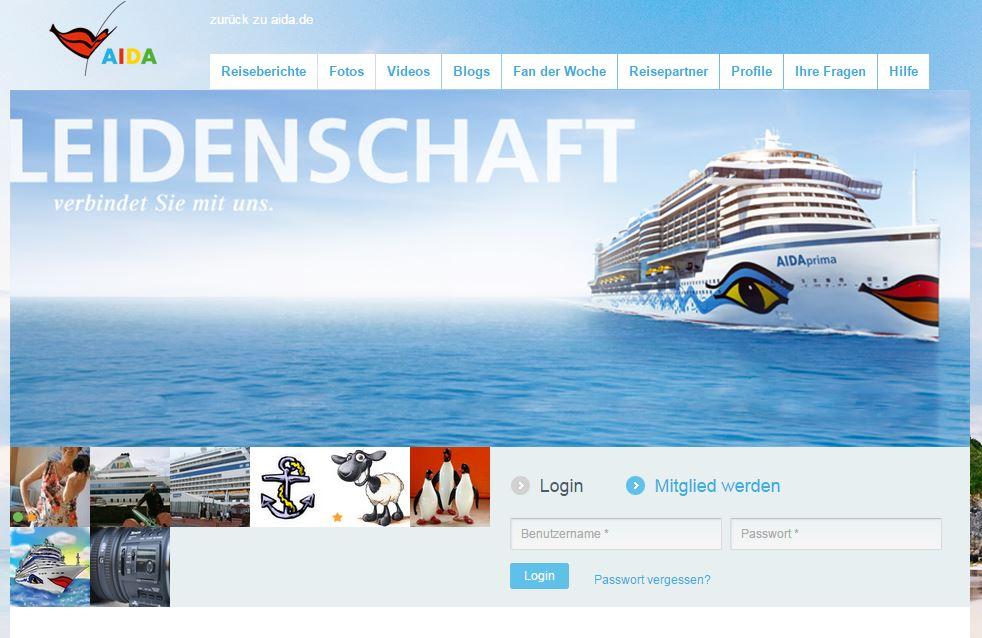 AIDA Cruises Weblounge