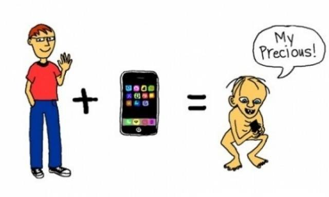 Figure2: Apple users are sometimes like Gollum (We hate Apple, 2014)