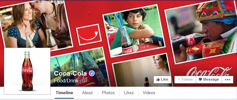 Coca Cola Facebook Main Page (facebook.com, 2015b)