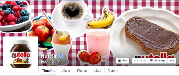 Figure 6: Nutella Facebook Main Page (facebook.com, 2015c)