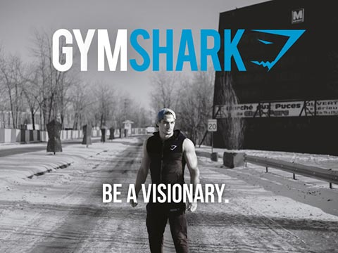 "Figure        SEQ Figure \* ARABIC     2      - Gymshark Slogan ""Be a Visionary"""