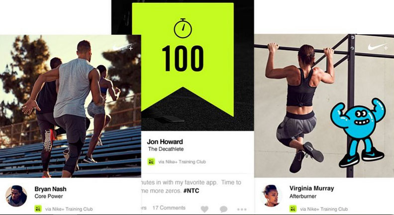 Brand Community posts from Nike+ platform, Source: nike.com