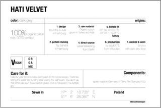 "Image 2: ""Eco-ID of the dress Hati Velvet"", source Jan n' June"