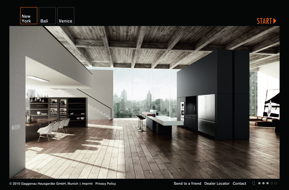 mage 1: The 3D animated Gaggenau online showroom evokes a sensory online brand experience (image source: Gaggenau, 2016b).