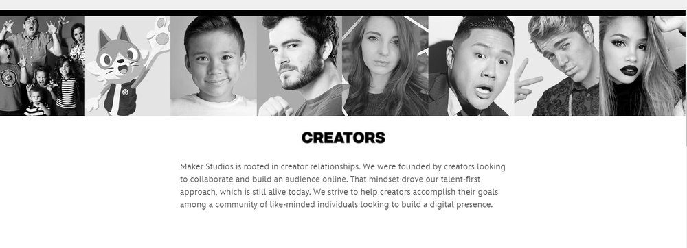 MCN: Maker Studio Creators (Source: Maker Studio, 2016)