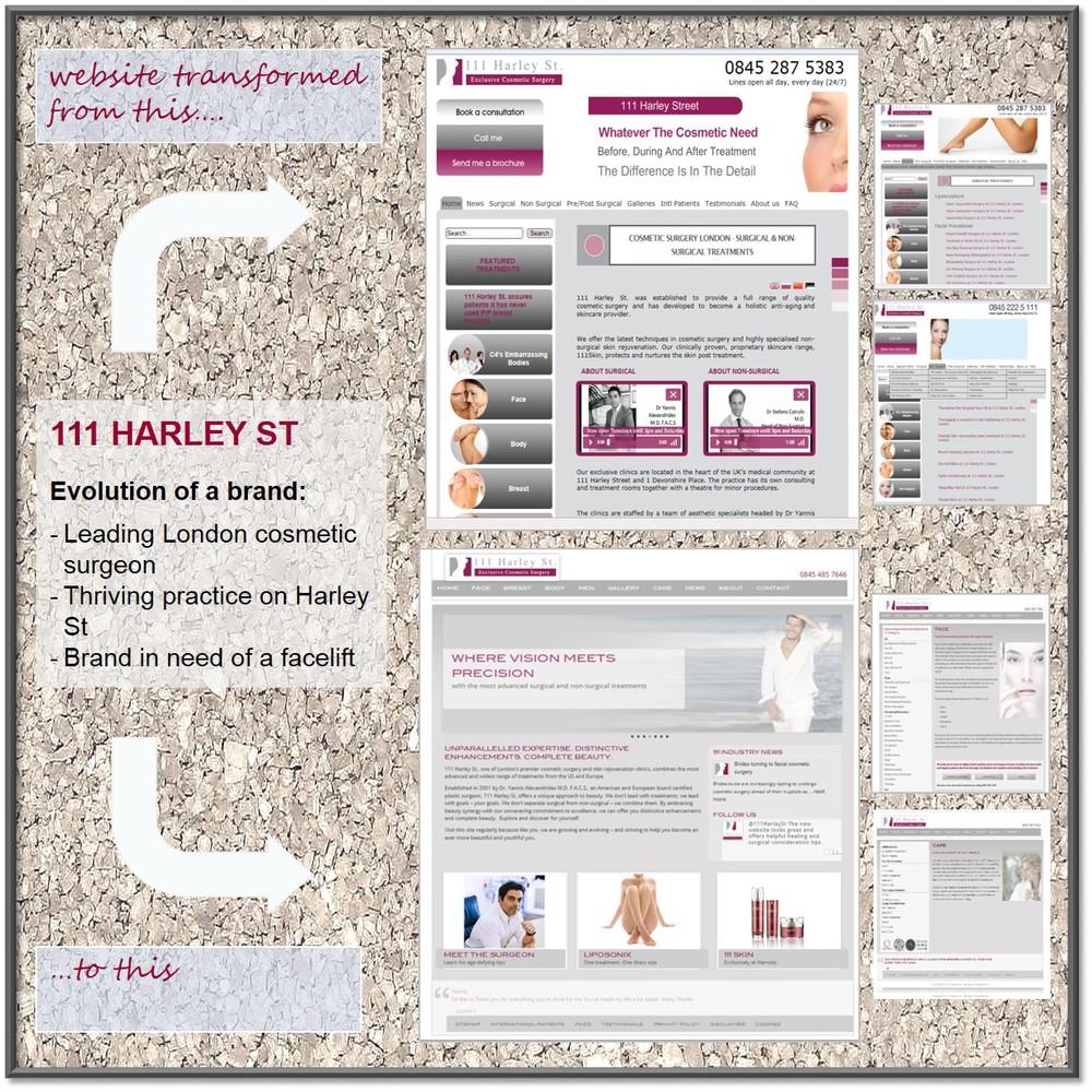 111 Harley Street Website Transformation