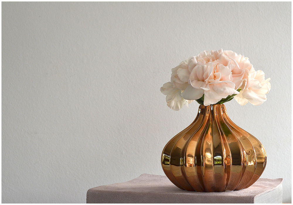 small gold vase and blush carnations.JPG