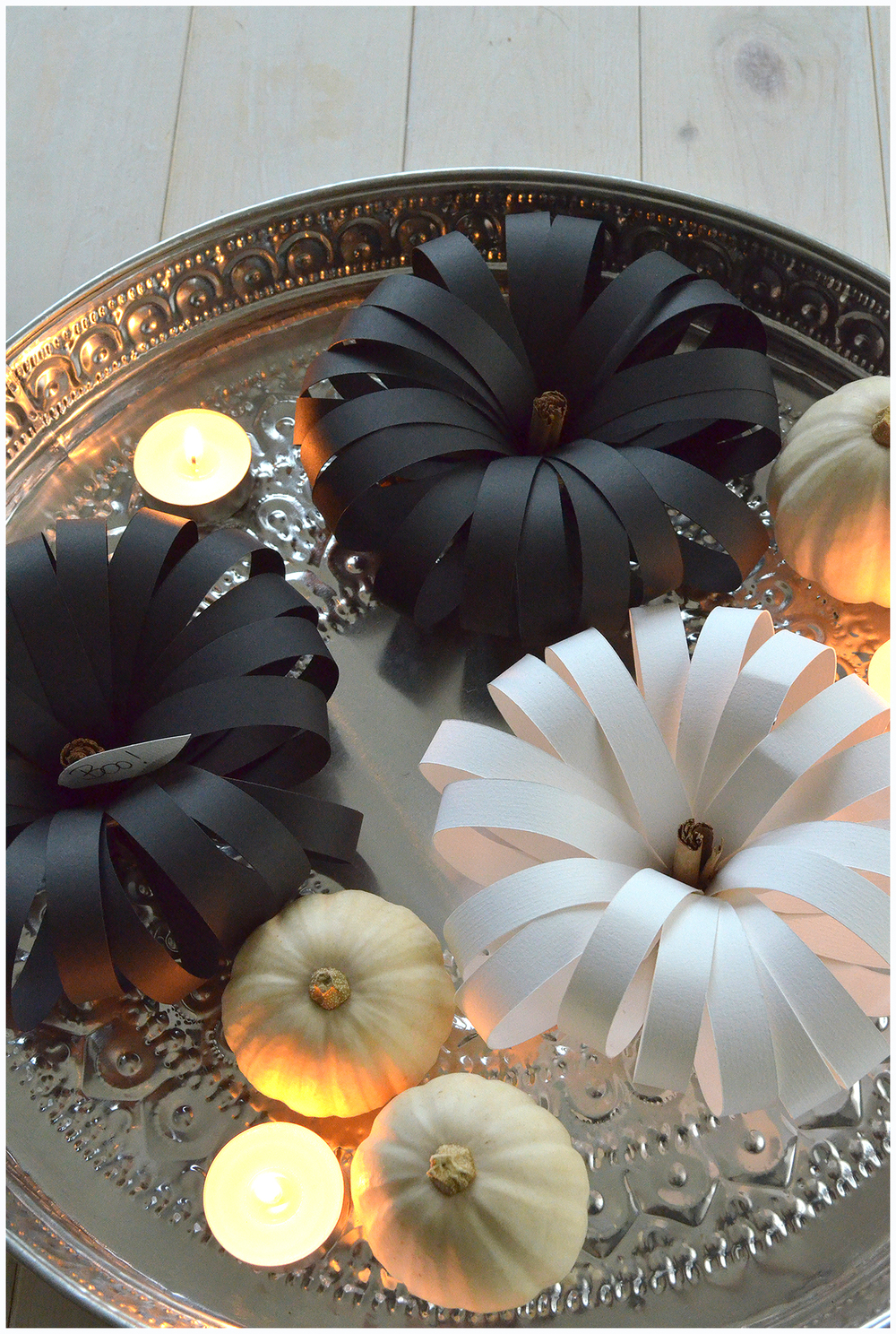 Black and White Paper Pumpkins