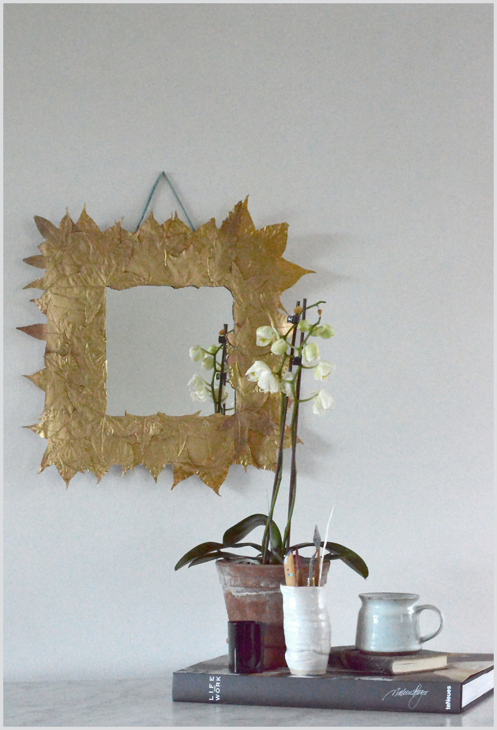 Gold Leaf Mirror Frame