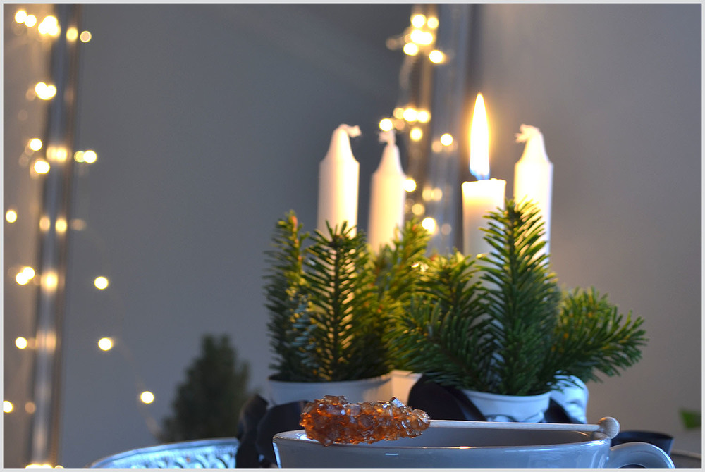1st Advent tea and candles