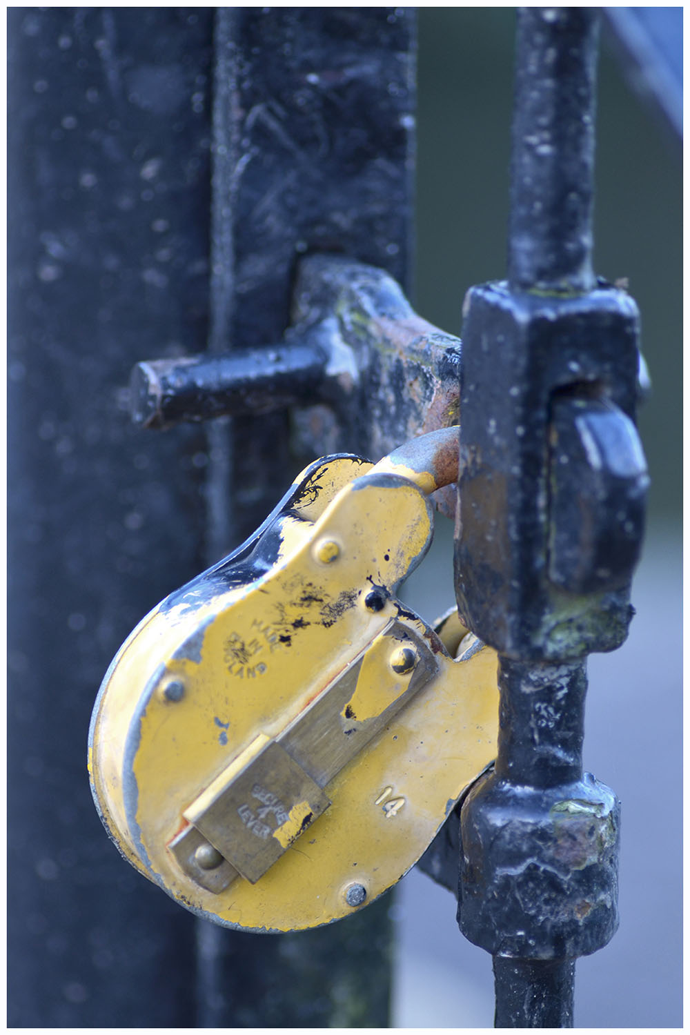 yellow lock