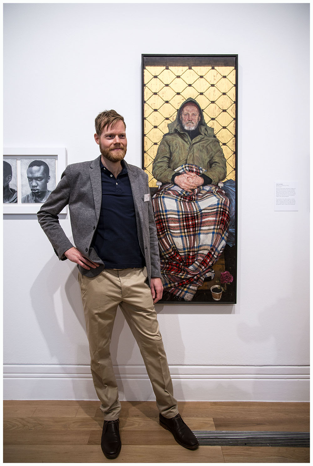 Man with a Plaid Blanket by Thomas Ganter, 2013 - Winner of the 2014 BP Portrait Award