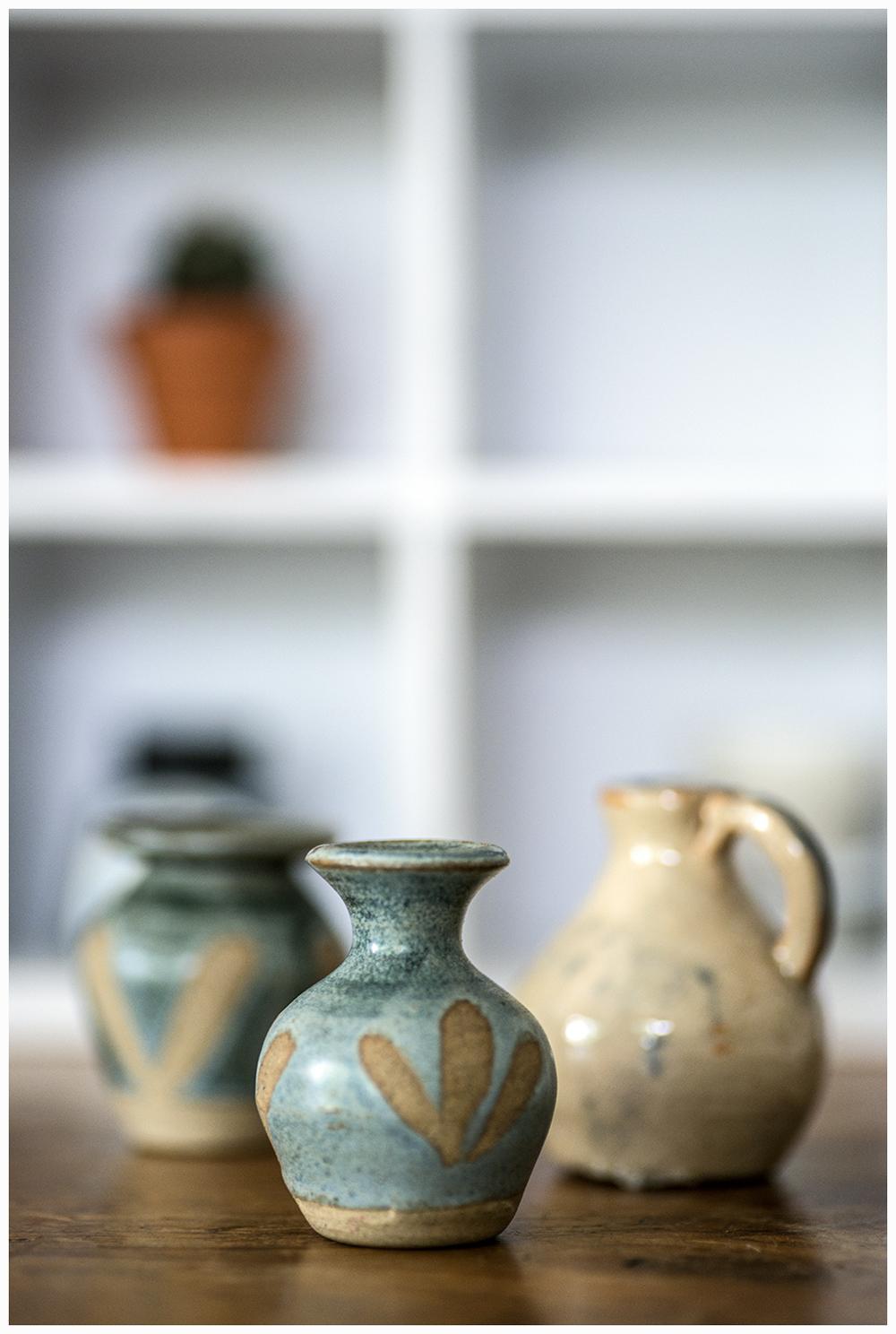 Miniature Pottery Vases