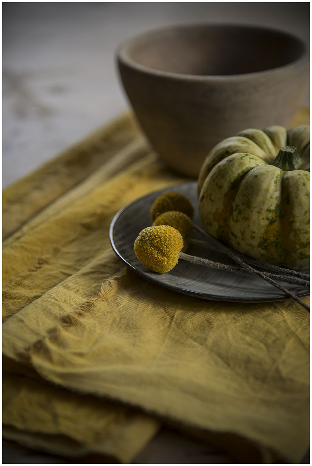 Turmeric and tea dyed napkins
