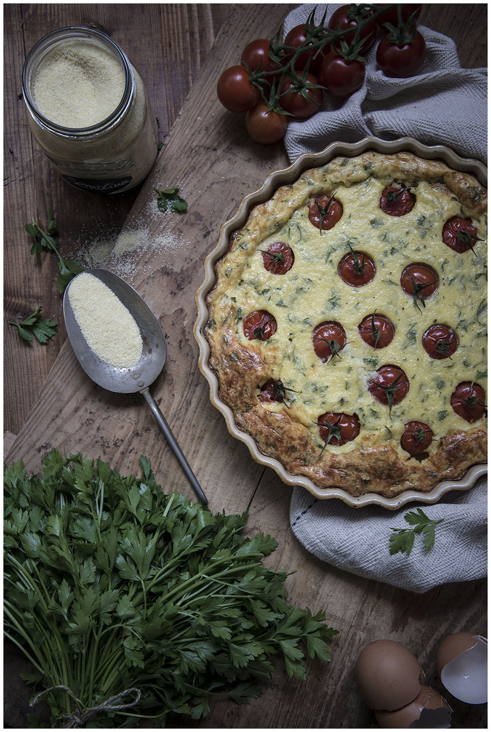 Cherry Tomato and Cheese Clafoutis