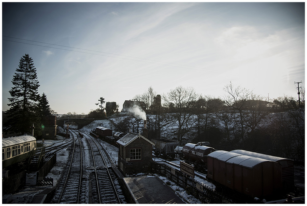 Yorkshire Steam Train Winter Travel