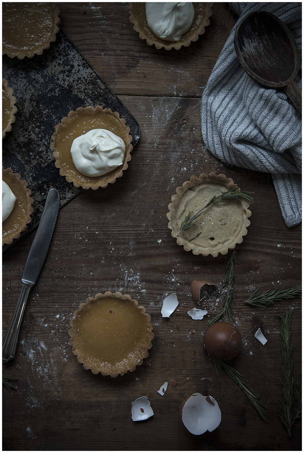 Rosemary Shortcrust & Persimmon Curd Tartlets