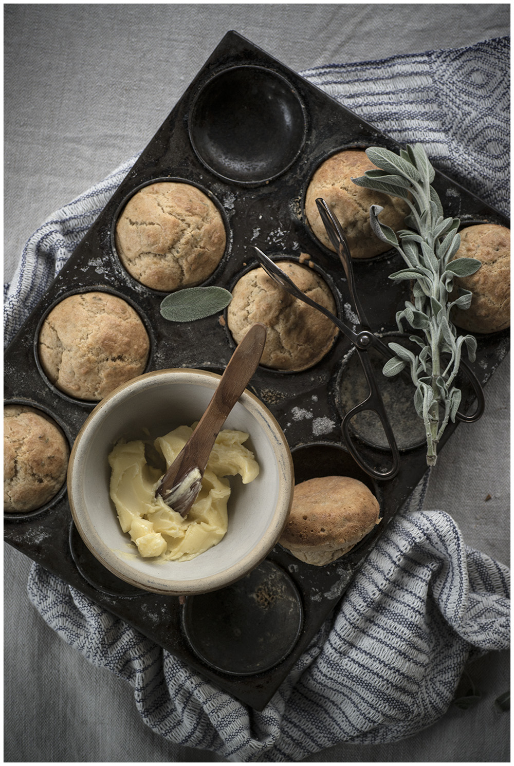 Brown Butter, Sage & Parmesan Mini Buns