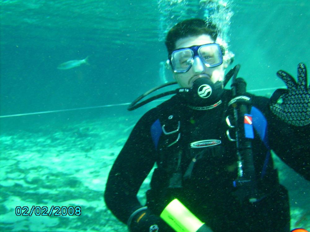 Diving in Ginnie Springs