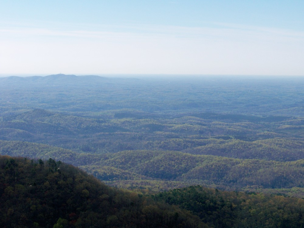 The blue haze is why they are called the Blue Ridge Mountains.