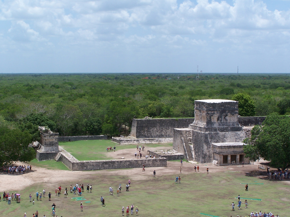 View of Arena from the top of the temple.