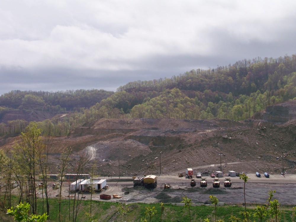 Overlooking a coal mine