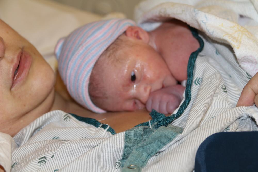 Minutes after Jaxon was born